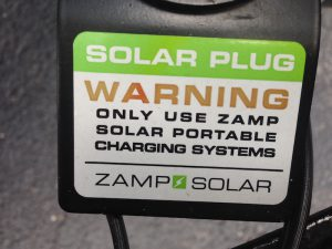"""Why is there a """"Zamp only"""" plug on your Airstream?"""