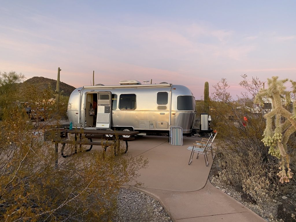 Unhooked campsite in Organ Pipe Cactus National Monument